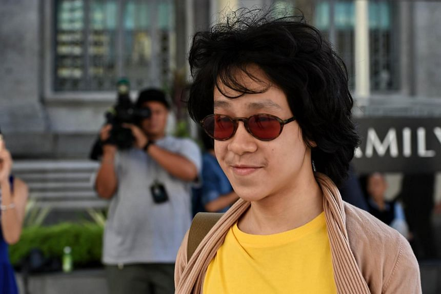 Amos Yee arriving at the State Court on June 2, 2015.