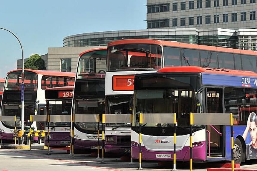 Buses at the Jurong East interchange.