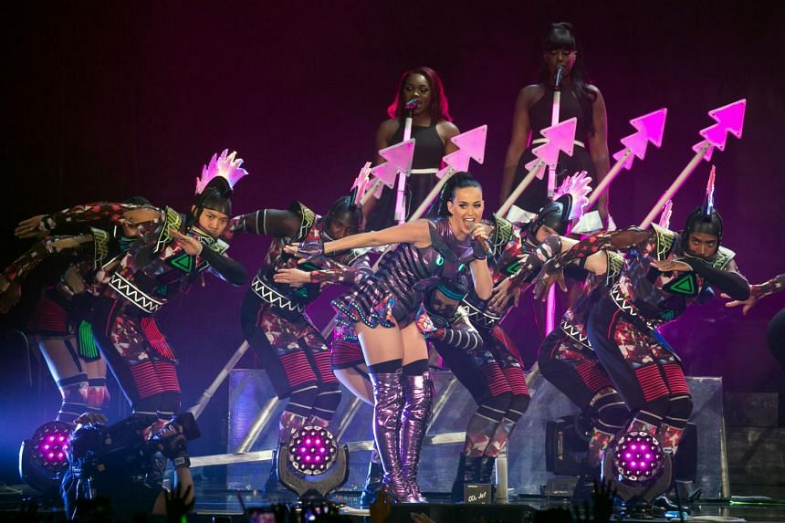 Singer Katy Perry performing at the Singapore Indoor Stadium last month.