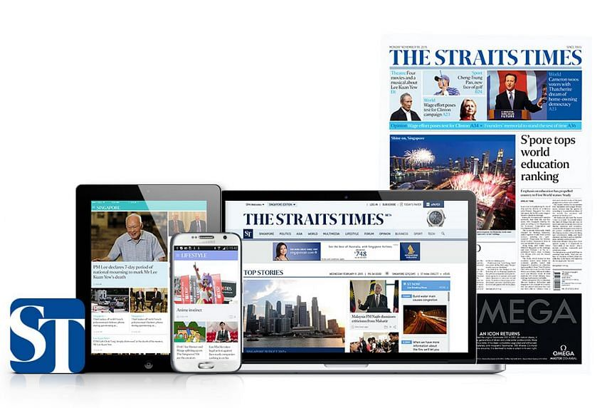 The Straits Times' new look will span both print and digital platforms.