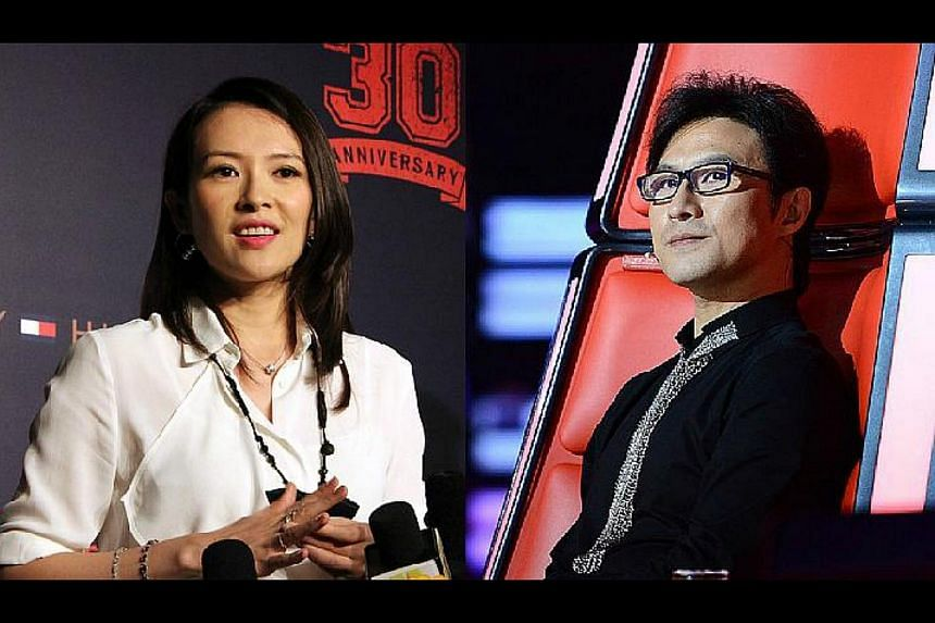 Actress Zhang Ziyi (left) and rocker fiance Wang Feng filed a notice to marry in Hong Kong on March 29.
