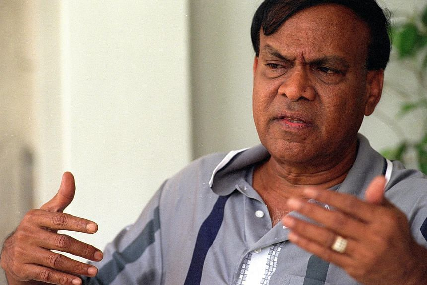 Former chairman of the Football Association of Singapore N. Ganesan.