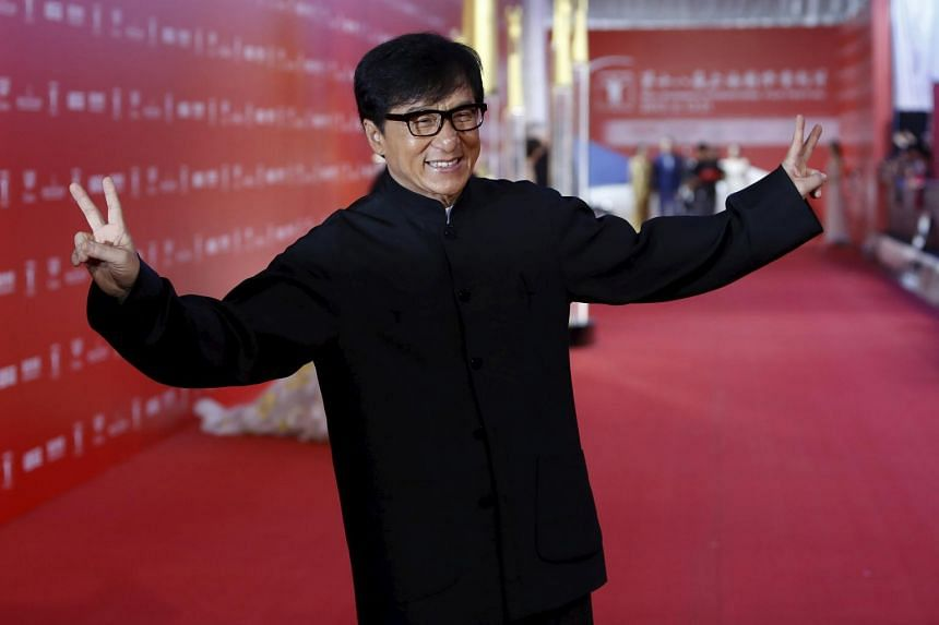 Actor Jackie Chan arrives at the 18th Shanghai International Film Festival on June 13, 2015.