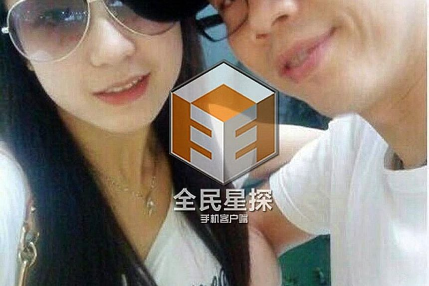 Singer David Tao with wife Penny Chiang (above) and Yang Ziqing (below).
