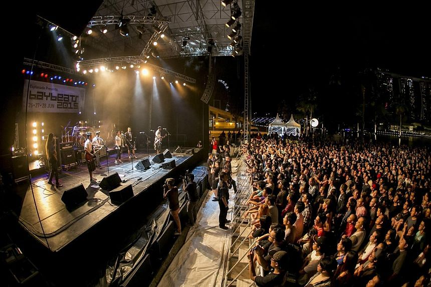 The Baybeats music festival over the weekend attracted thousands of fans of local indie music.