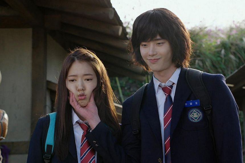 Park Shin Hye (left) and Lee Jong Suk in Pinocchio. The on-screen couple are reportedly dating off-screen.