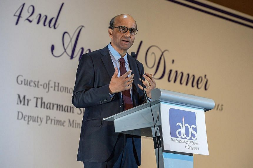 Mr Tharman Shanmugaratnam at the 42nd annual dinner of the Association of Banks in Singapore.