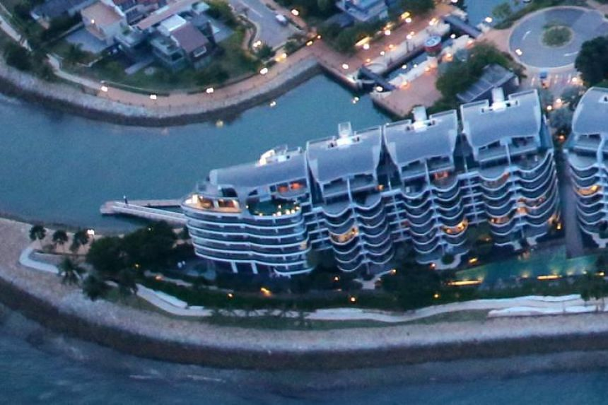 A unit at Seascape condominium at Sentosa Cove sold in May incurred the heaviest loss of $5.43 million after factoring in the seller's stamp duty.