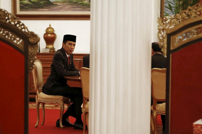 A file picture of Indonesia's President Joko Widodo at the Presidential Palace in Jakarta, Indonesia. PHOTO: REUTERS