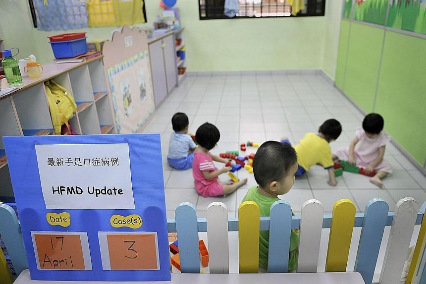 Currently, all parents with Singapore citizen children enrolled in childcare centres qualify for a basic subsidy of $300 a month.
