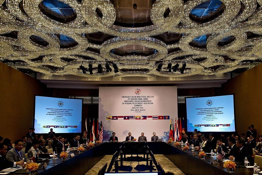 Representatives from member nations of the Association of Southeast Asian Nations (Asean) attend the Emergency Asean Ministerial meeting in Kuala Lumpur on July 2, 2015.