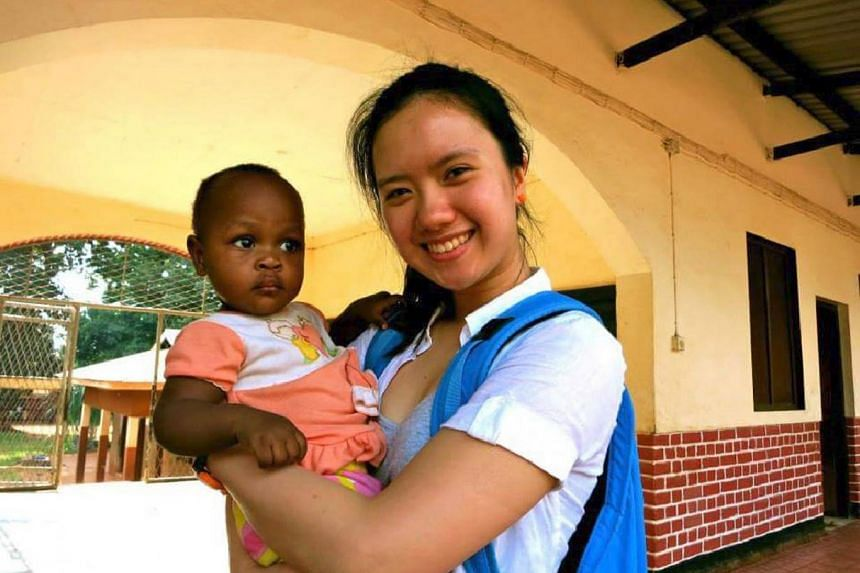 Ms Megan Loy doing volunteer work in Tanzania, Africa last year.