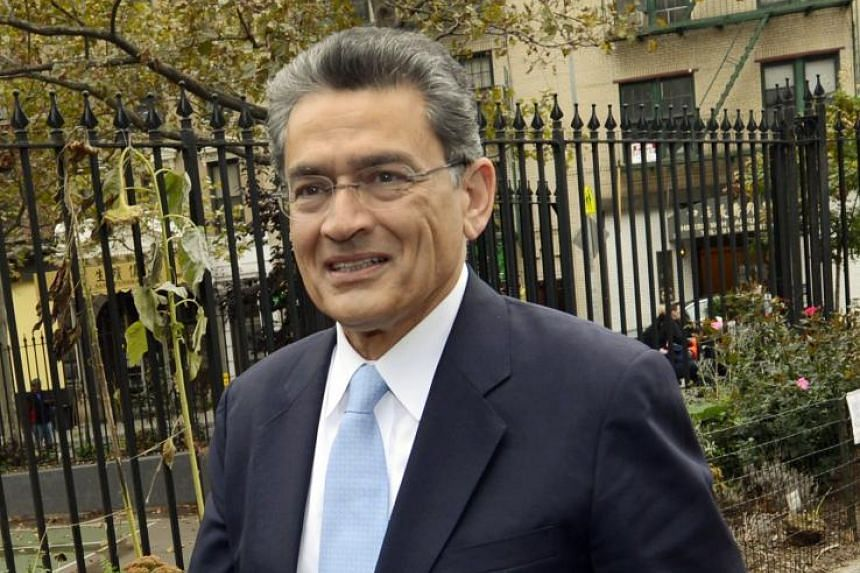 Rajat Gupta (above) was convicted in 2012 of passing illegal tips to a hedge fund co-founder.