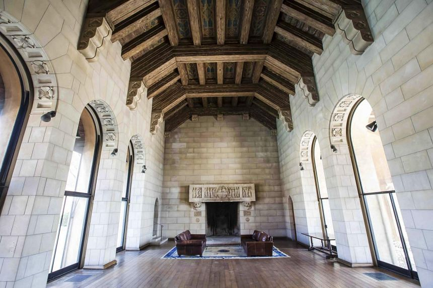 The main living room in the area that was once used as a chapel on the former estate of the Sisters of the Most Holy and Immaculate Heart of the Blessed Virgin Mary is located in Los Angeles on July 2, 2015.