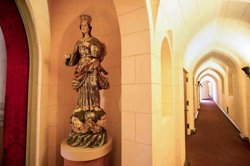 The a hallway the estate where the motherhouse of the Sisters of the Most Holy and Immaculate Heart of the Blessed Virgin Mary was located in Los Angeles on July 2, 2015.
