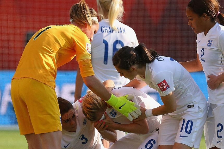 A devastated Laura Bassett being comforted by her England team-mates after their dream of making it to the final was squashed by her own goal deep in injury time on Wednesday. Japan coach Norio Sasaki felt that the goal was more a result of his team
