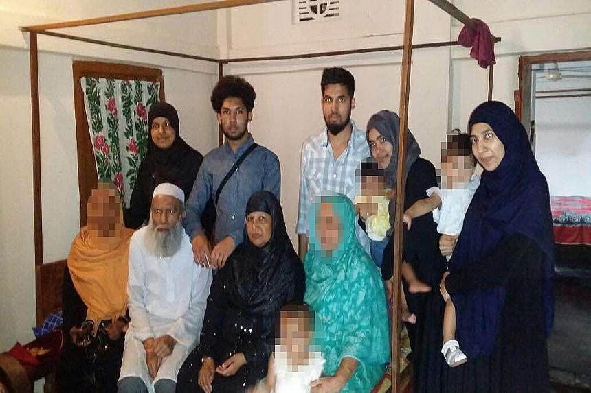 Mr Muhammed Abdul Mannan and his wife Minera Khatun (front row, centre) went on a holiday with their family and were due to return in May. A relative reported them missing when they did not come back home.