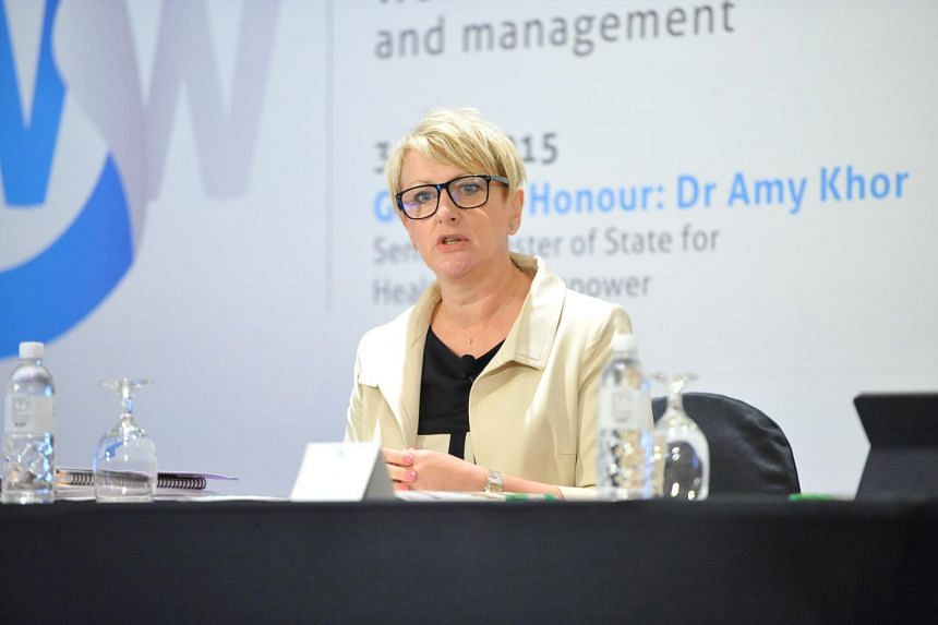 International Labour Organisation Bureau of Employers' Activities director Deborah France-Massin speaking at the International Labour Organisation Asia-Pacific regional conference, Fostering Female Talent in the Workforce.