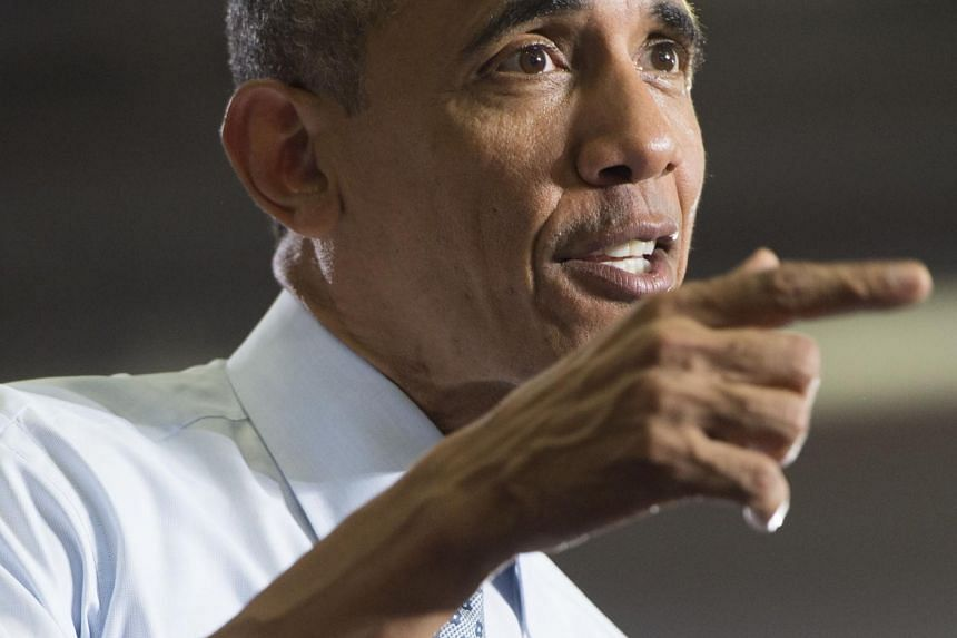 US President Barack Obama speaks about the economy at the University of Wisconsin.