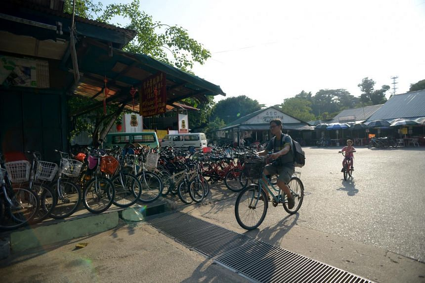 A popular way to explore Pulau Ubin is on a bicycle.