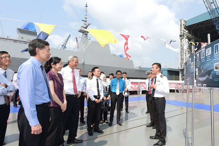 Briefing on warship Independence