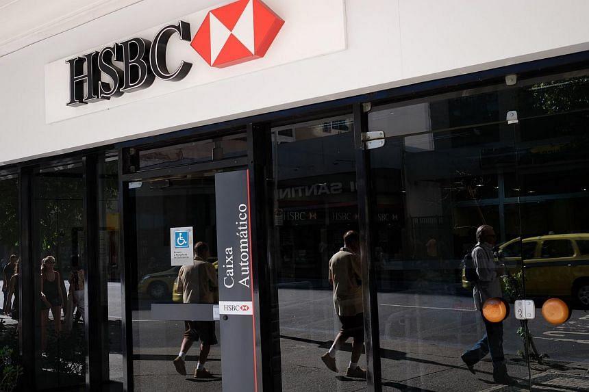 HSBC bank's cash dispenser in Rio de Janeiro.