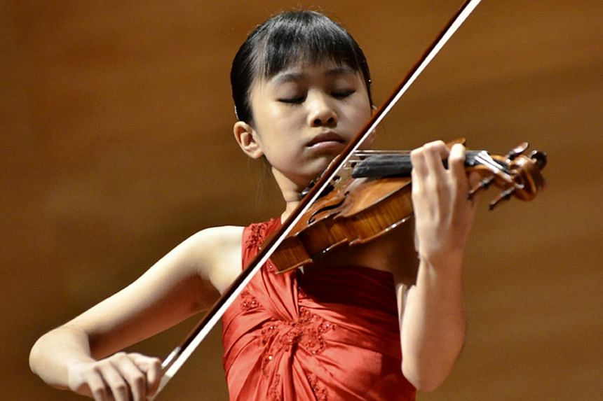 Violinist Kimberly Lo.