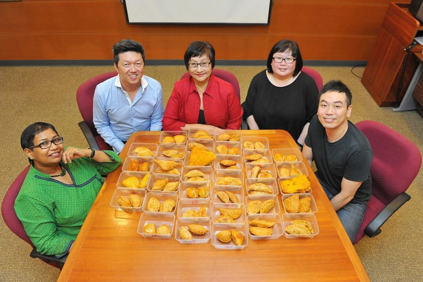 The judges are (from left) cookbook author and cooking instructor Devagi Sanmugam, Life food critic Wong Ah Yoke, food consultant and restaurateur Violet Oon, Life food editor Tan Hsueh Yun and Willin Low, chef-owner of Wild Rocket restaurant.