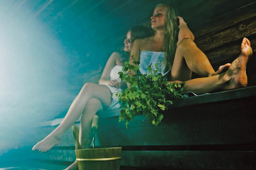 The Finns visit the sauna to unwind and socialise over the weekends.