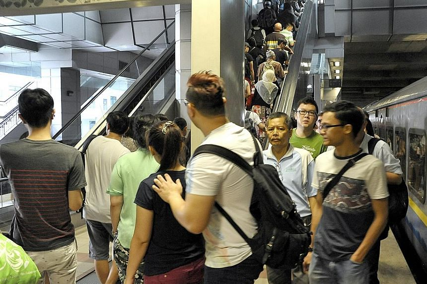 The Shuttle Tebrau, launched last Wednesday, offers seven trips a day in each direction. Checks by The Straits Times on Friday evening and yesterday morning found the carriages packed.
