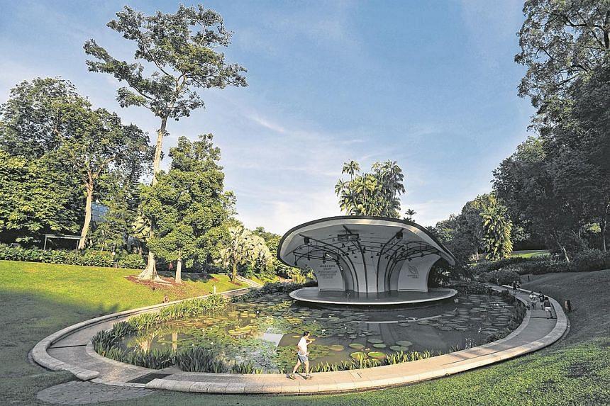 Symphony Lake at the Singapore Botanic Gardens.