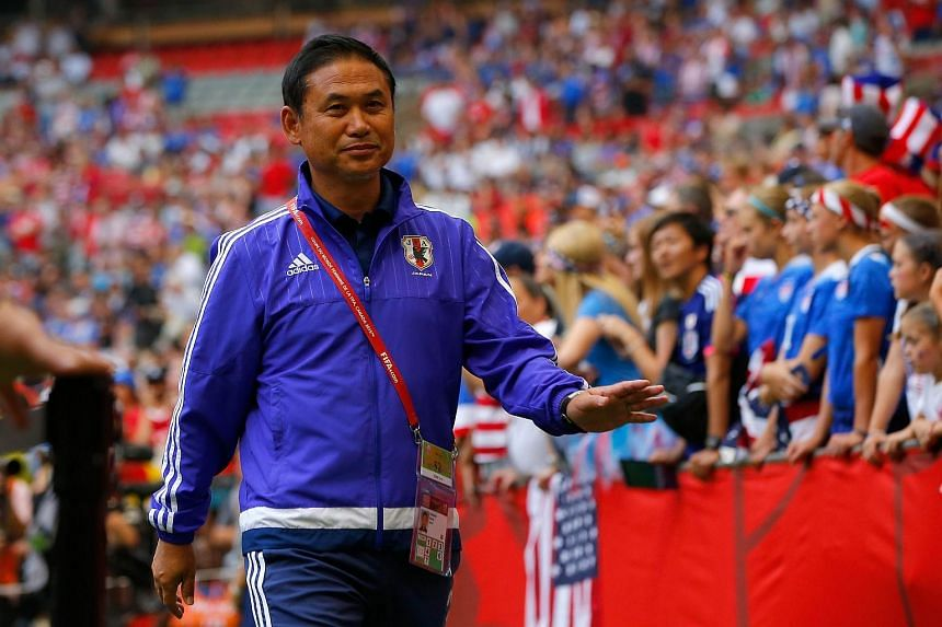 Head coach Norio Sasaki of Japan walks out to the pitch to take on the United States in the FIFA Women's World Cup Canada 2015 Final at BC Place Stadium on July 5, 2015.
