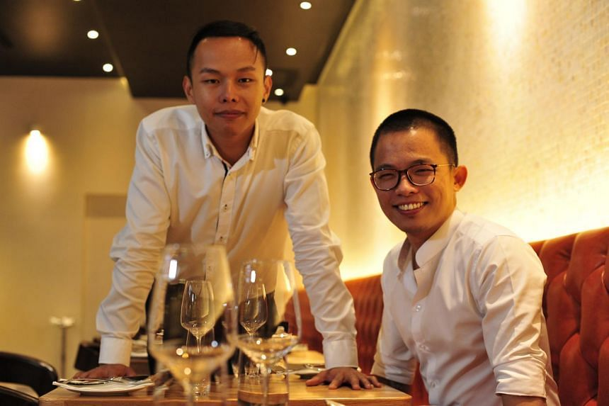 Mr Joshua Khoo (left) and Mr Dylan Ong say their temperaments complement each other's.