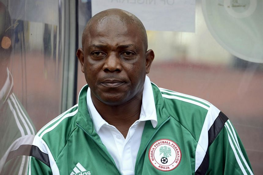 Nigeria's coach Stephen Keshi looking on during the 2015 Africa Cup of Nations qualifying football match between Nigeria and Sudan in Abuja.