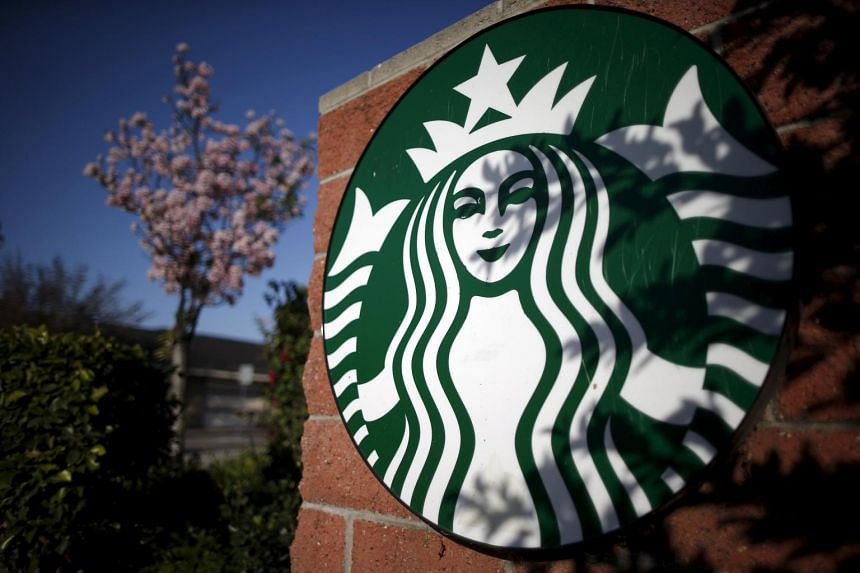A Starbucks logo on a store in Los Angeles, California on March 10, 2015.
