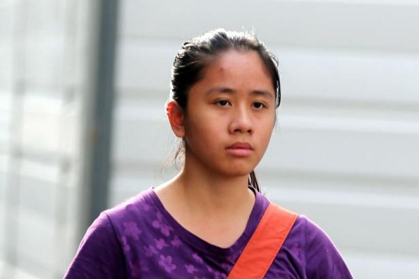 Carmen Chng Jiawen, accused of kicking and using abusive words to a police officer at Paya Lebar Crescent.