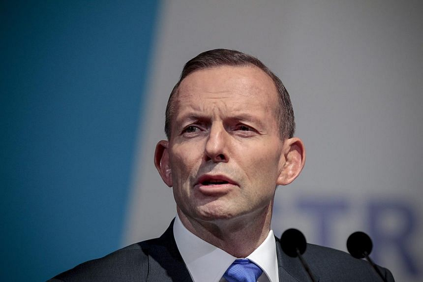 Australian Prime Minister Tony Abbott at the Shangri-La Hotel in Singapore on June 29, 2015.
