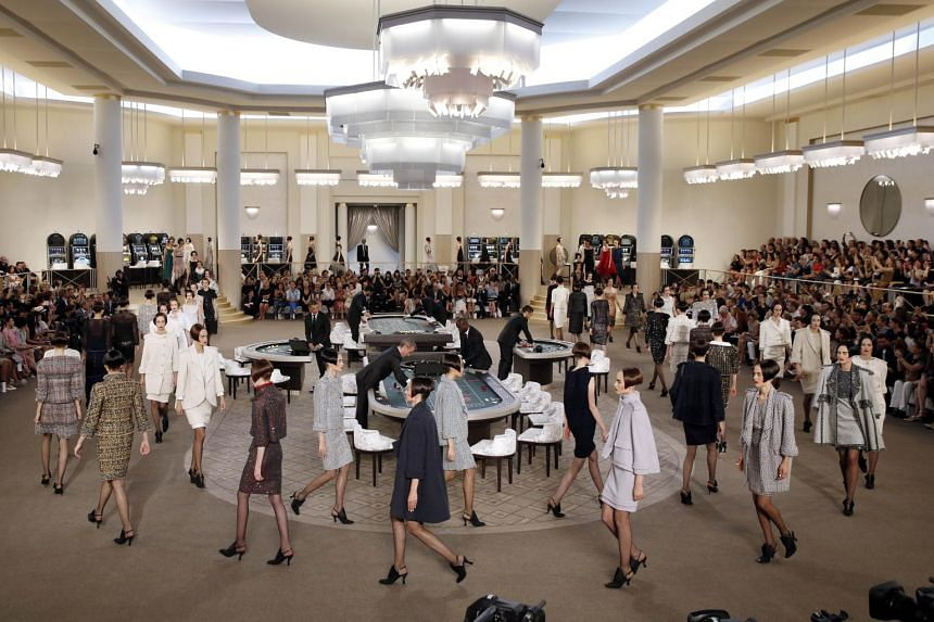 Models present creations for Chanel.
