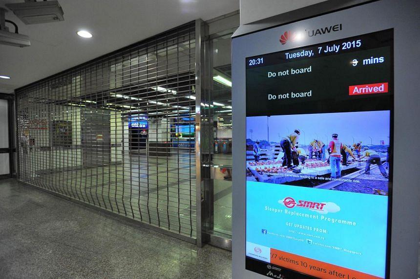 City Hall MRT Station on July 7, 2015.