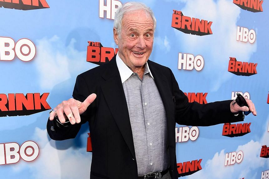 Jerry Weintraub arriving at the premiere of HBO's The Brink on June 8, 2015.