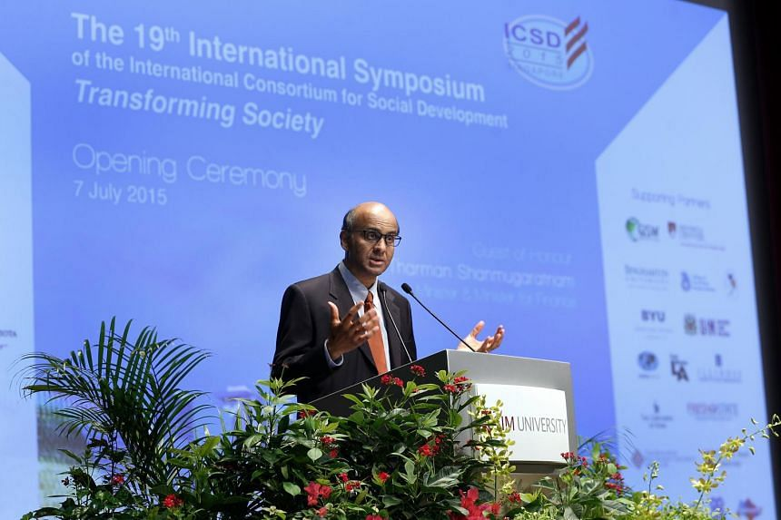 Mr Tharman was speaking on Tuesday at the opening of a three-day conference on social development, which was attended by about 400 experts from 38 countries.