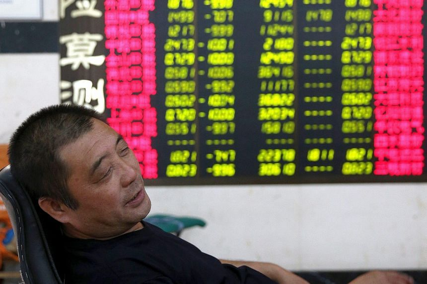 Slumped: The Shanghai Composite lost 1.29 per cent yesterday, while the Shenzhen index dived 5.34 per cent.