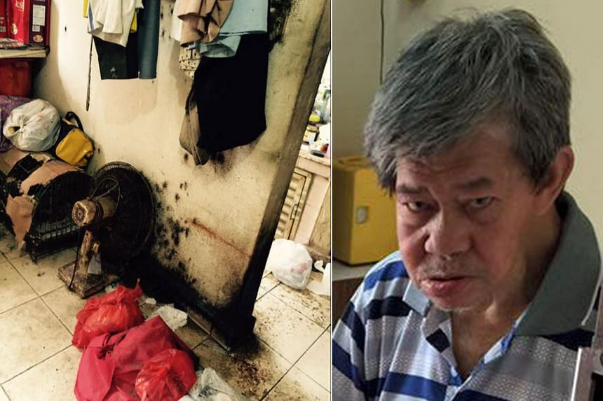 Bedbugs used to crawl all over Mr Choo Kim Guan's (right) body and rental flat (left).