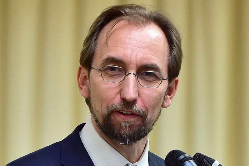 UN High Commissioner for Human Rights Zeid Ra'ad Al Hussein speaks during a press conference in Seoul on June 25, 2015