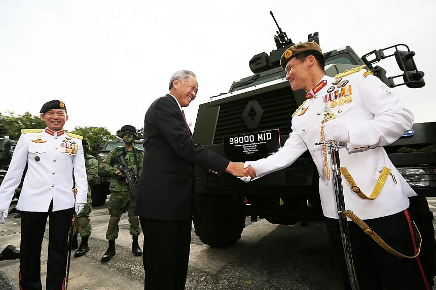 Minister for Defence Ng Eng Hen yesterday declared the Protected Response Vehicle, dubbed Peacekeeper, operational.