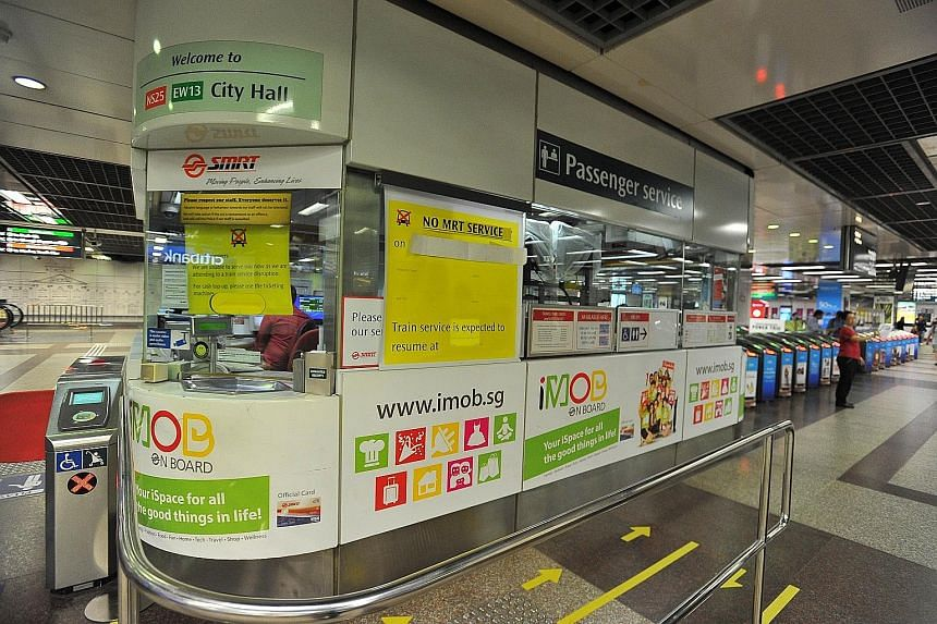City Hall station was empty as services stopped during the disruption on July 7, 2015.