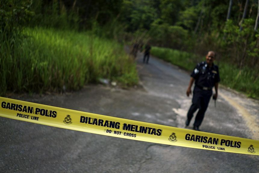 A site in northern Malaysia where human remains were found near an abandoned human trafficking camp, close to the Thai border.
