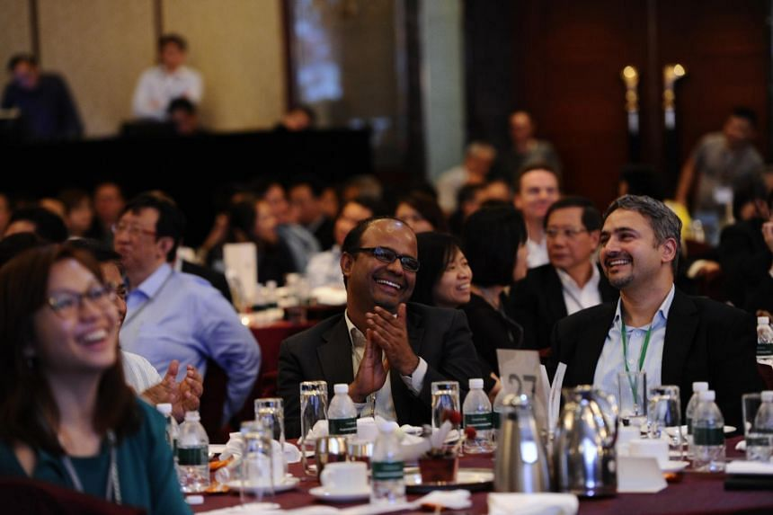The audience of the lunchtime dialogue at the Institute of Policy Studies' SG50+ Conference.