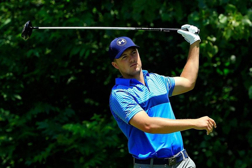 Jordan Spieth tees off on the second hole during the first round of the John Deere Classic on July 9, 2015.