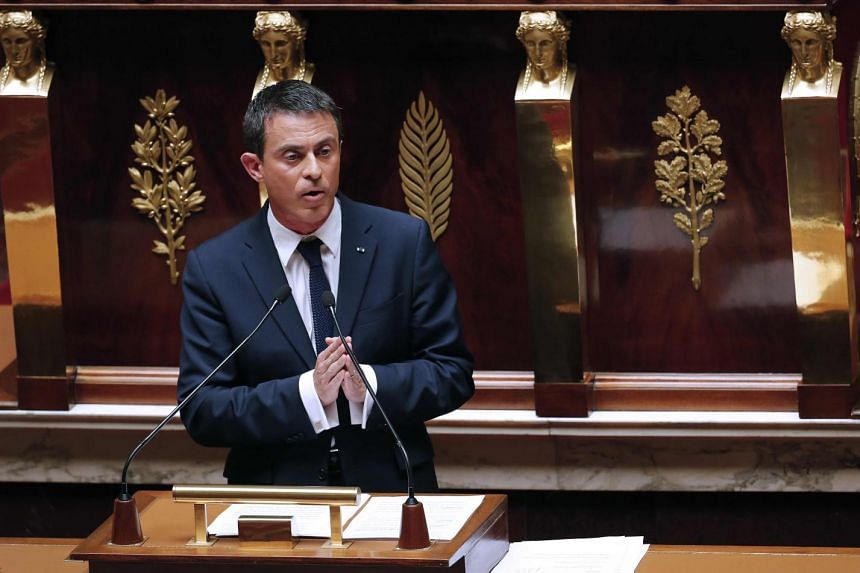 French Prime Minister Manuel Valls delivers a government statement on Greece at the National Assembly in Paris, France, July 8, 2015.